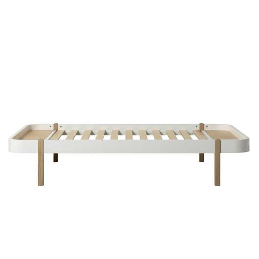 Wood Lounger 120 cm vit/ ek, Oliver Furniture