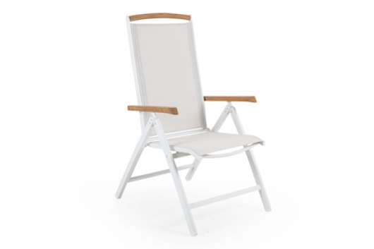 Andy Positionsstol Vit/off White Teak