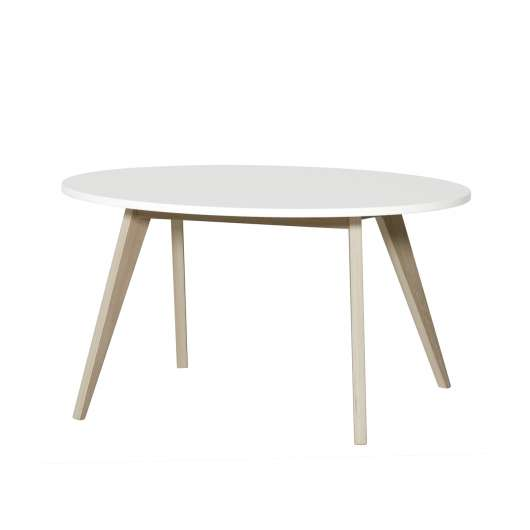 Barnbord PingPong Wood vit/ ek, Oliver Furniture