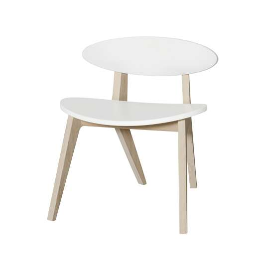 Barnstol PingPong Wood vit/ ek, Oliver Furniture