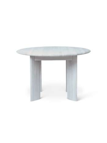 Bevel Table - Round Ø117 - Ice Blue