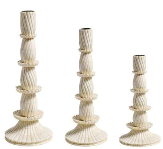 Candle holder bone - small